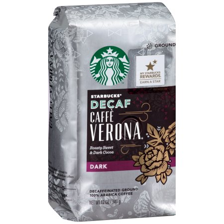 Starbucks Decaf Caffè Verona Dark Roast Ground Coffee - 12oz
