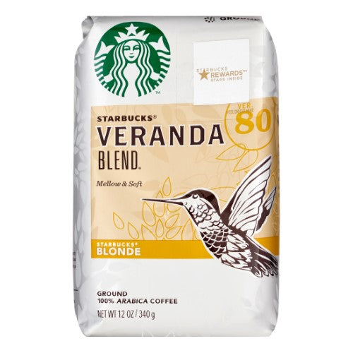 Starbucks Blonde Roast Ground Coffee — Veranda Blend — 100% Arabica — 1 Bag (12 Oz.)