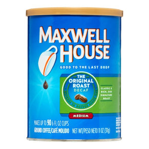 Maxwell House Original Medium Roast Decaf Ground Coffee, Decaffeinated, 11 Oz Can