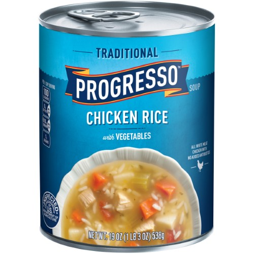 PROGRESSO CHICKEN RICE WITH VEGETABLES