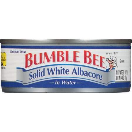 Bumble Bee Solid White Albacore Tuna in Water, 5 Ounce Can, Ready to Eat Tuna Fish, High Protein Food