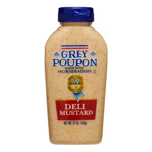 Grey Poupon Deli Mustard, 10 Oz Squeeze Bottle