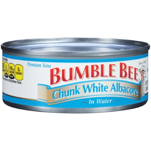 BUMBLE BEE Chunk White Albacore Tuna in Water, 5 Ounce Can, High Protein Food
