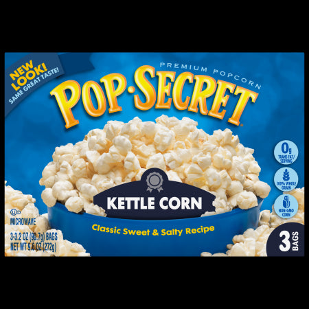 POP SECRET MICROWAVE POPCORN KETTLE CORN