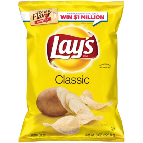 LAY'S CHIPS ORIGINAL 8 OZ