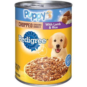 Pedigree Puppy Chopped Ground Dinner with Lamb & Rice