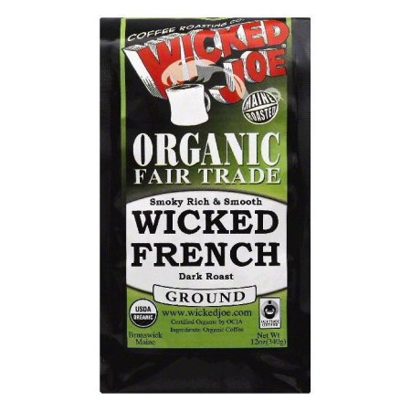Wicked Joe Dark French Roast Ground Coffee, Original, 12 Oz