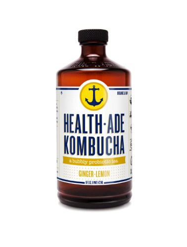 HEALTH-ADE KOMBUCHA GINGER-LEMON 16 FL OZ