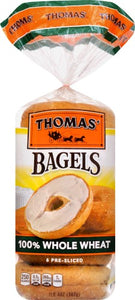 THOMAS 100% WHOLE WHEAT BAGEL