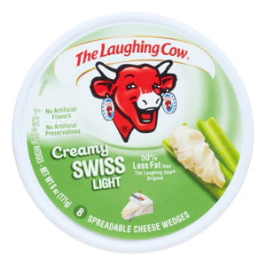 The Laughing Cow Spreadable Light Swiss Cheese Wedges