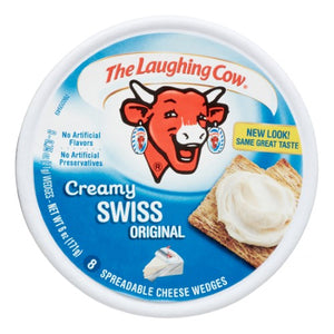 The Laughing Cow Original Creamy Swiss Spreadable Cheese Wedges