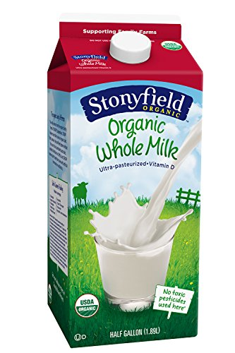 Stonyfield Organic Whole Milk - 0.5gal