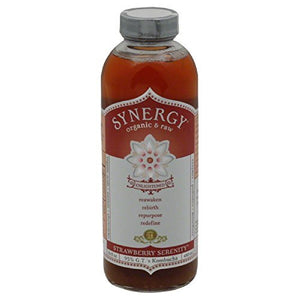 GT'S, ENLIGHTENED SYNERGY , KOMBUCHA, STRAWBERRY SERENITY
