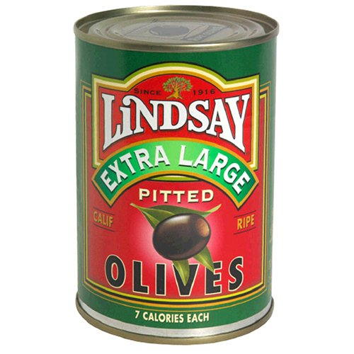 LINDSAY X-LARGE RIPE PITTED OLIVES
