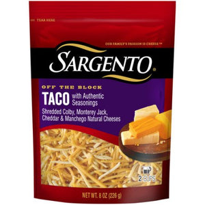 Sargento Shredded Taco Natural Cheese