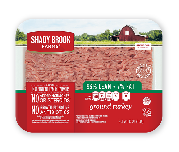 SHADY BROOK FARMS 93% GROUND TURKEY