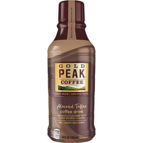 GOLD PEAK ALMOND TOFFEE COFFEE DRINK 14 FL OZ