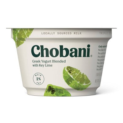 CHOBANI 2% BLEND KEY LIME YOGURT