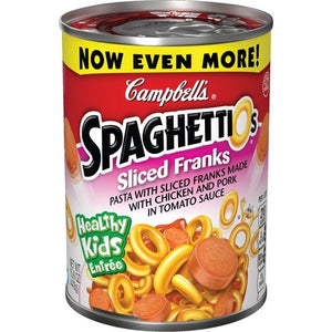 CAMPBELL'S CANNED SPAGHETTIOS WITH FRANKS