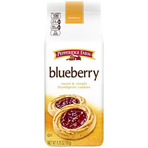 Pepperidge Farm Blueberry Thumbprint Cookies, 6.75 Oz. Bag