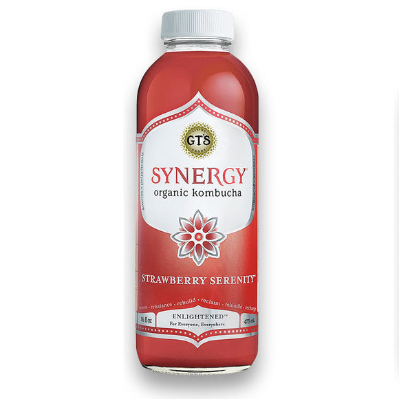 GT'S KOMBUCHA SYNERGY STRAWBERRY SERENITY 16 FL OZ
