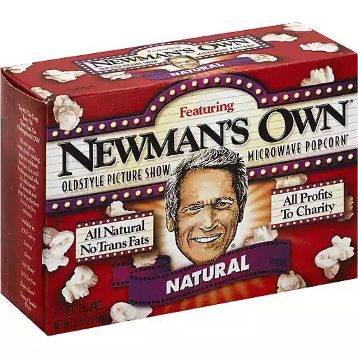 NEWMAN'S OWN MICROWAVE POPCORN NATURAL