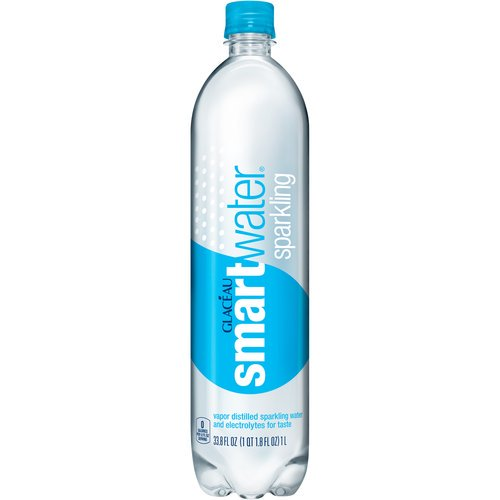 Glaceau Smartwater Sparkling Vapor Distilled Water with Electrolytes, 33.8 Fl. Oz.