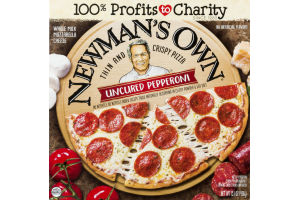 NEWMAN'S OWN THIN AND CRISPY PIZZA UNCURED PEPPERONI