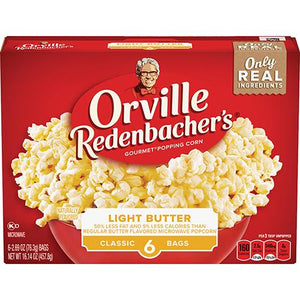 ORVILLE MICROWAVE POPCORN LIGHT BUTTER