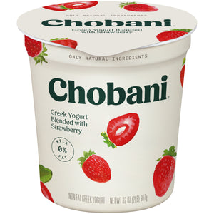 CHOBANI O% STRWBERY GREEK YOGURT QUART