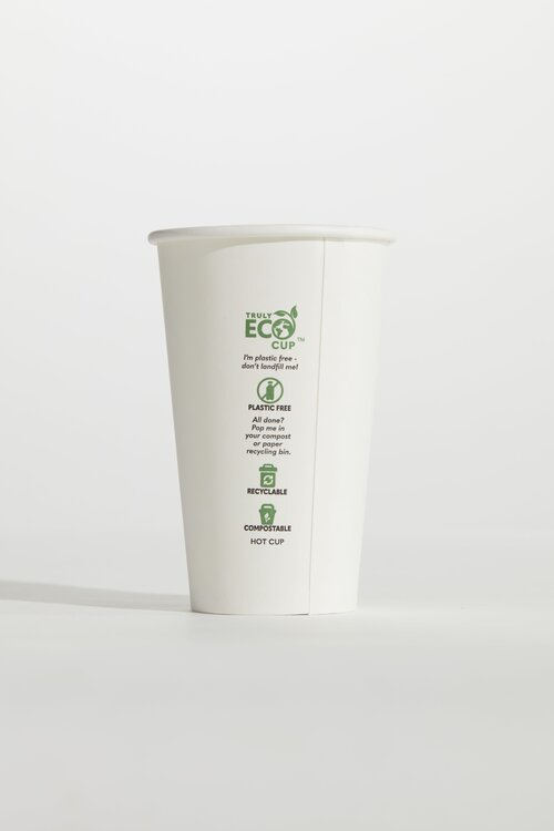 10oz Slim Truly Eco Paper Single Wall White Cup Pinnacle (Carton 1000)