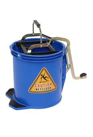 Bucket Mop 16 Litre Plastic Blue Bigfoot W/Castors