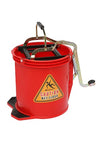 Bucket Mop 16 Litre Plastic Red Bigfoot W/Castors