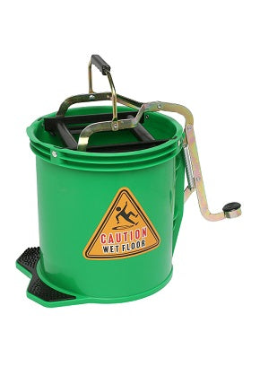 Bucket Mop 16 Litre Plastic Green Bigfoot W/Castors