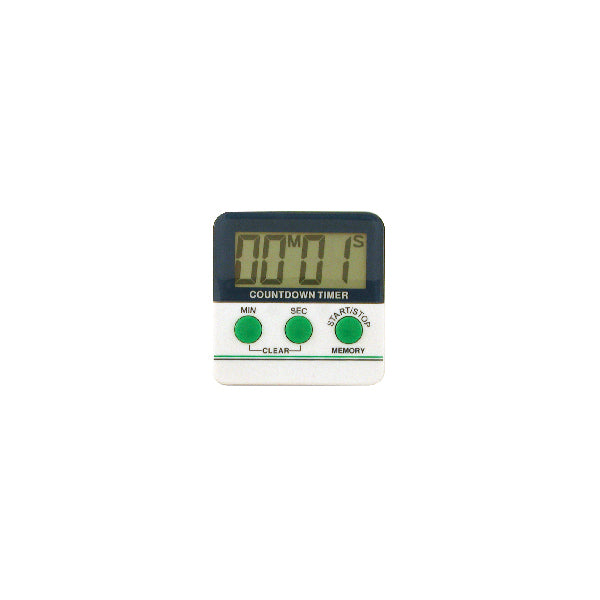 Timer Digit LCD White