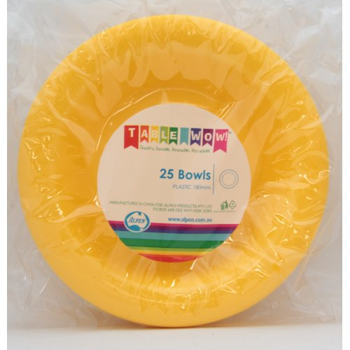 Bowl Plastic 12oz (180mm) Alpen (Pack 25)