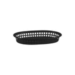 Basket Bread Rectangular Plastic Black (270x180x40mm) (Each)