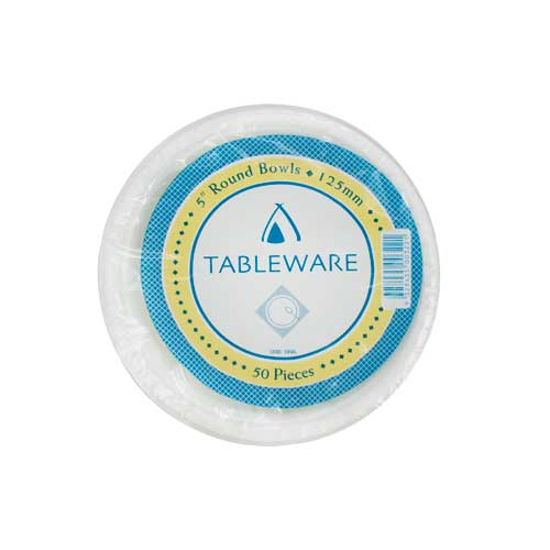 Bowl Plastic 5oz (150ml/130mm) White (Carton 500)