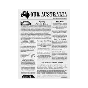 Greaseproof Our Australian News Print 1/2 Cut (320x425mm) (Pack 200)