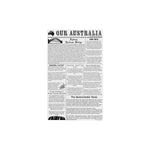 Greaseproof Our Australian News Print 1/4 Cut (190x310mm) (Pack 200)
