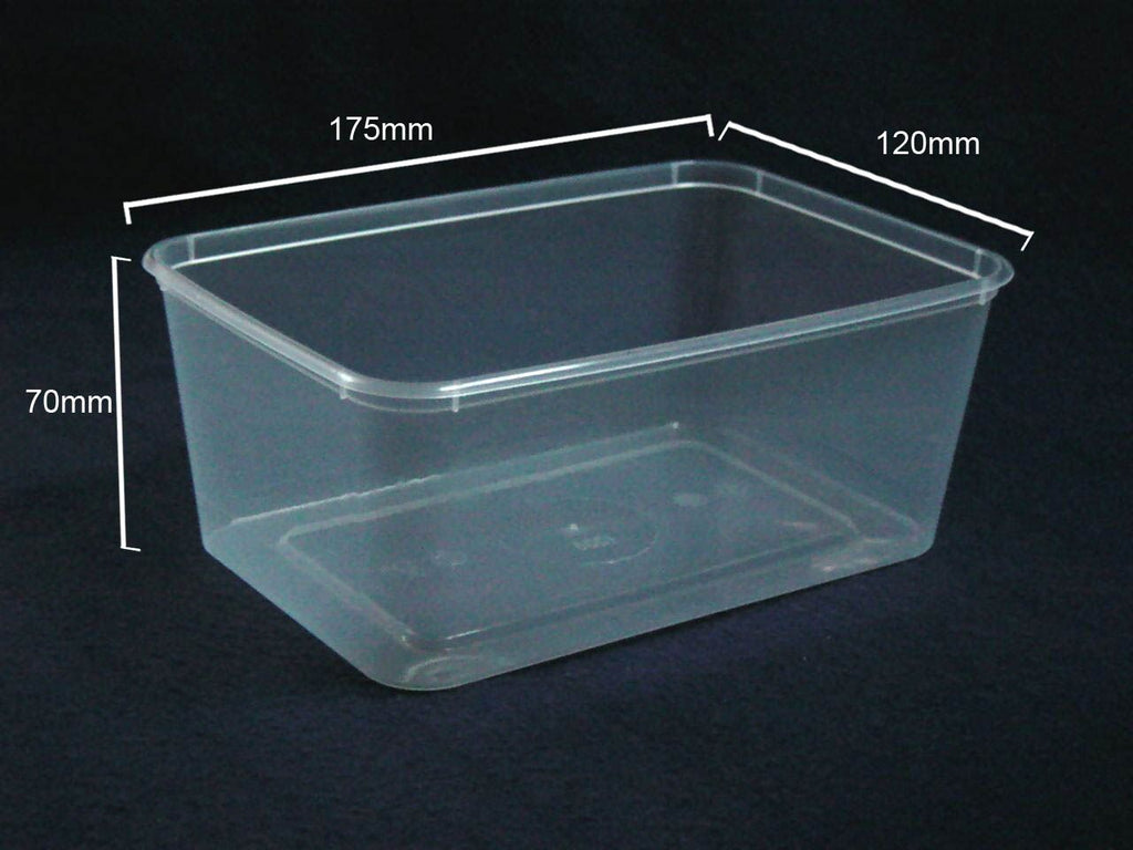 A1000 Plastic Rectangle (1000ml) Container (Carton 500) (Sleeve 50)