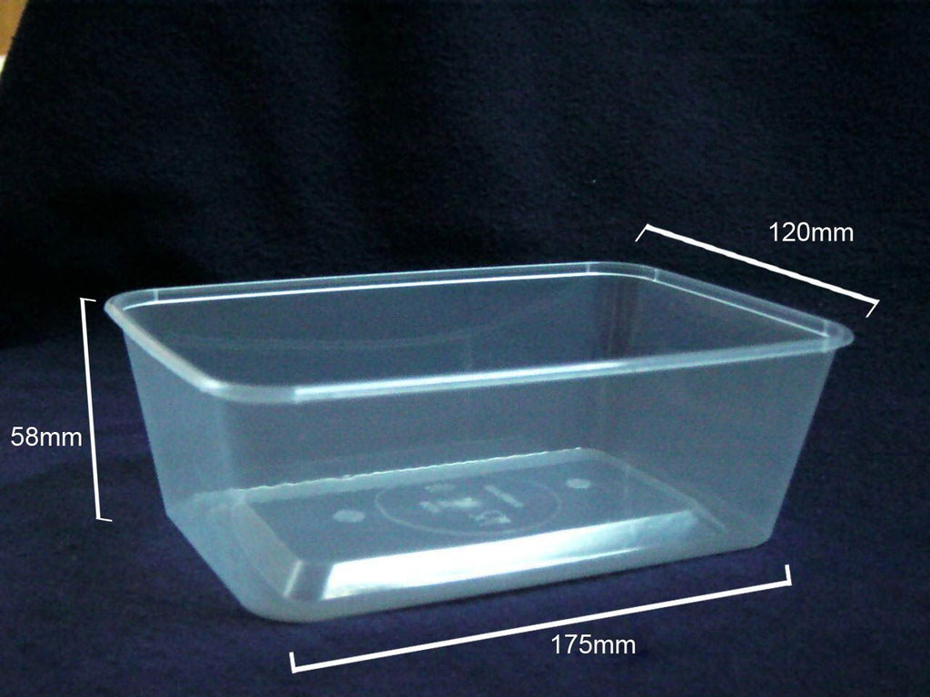 A750 Plastic Rectangle (750ml) Container (Carton 500) (Sleeve 50)
