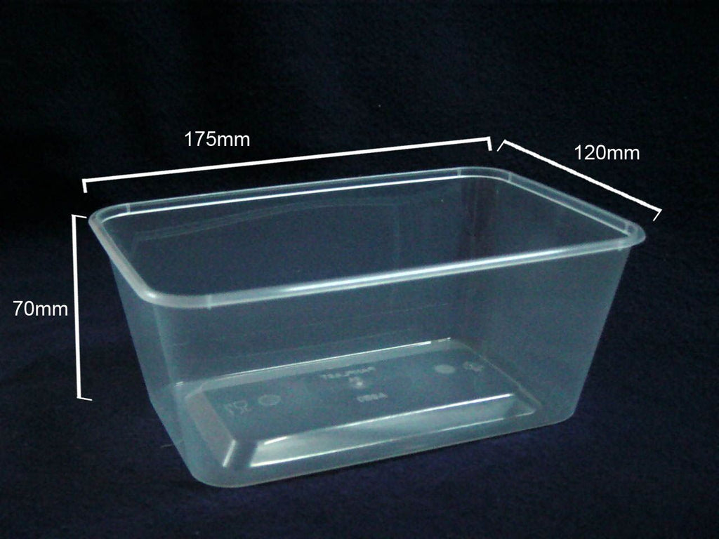 A950 Plastic Rectangle 950ml Container (Carton 500) (Sleeve 50)