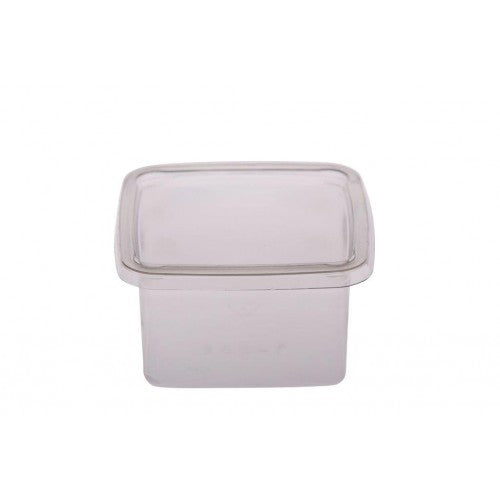 Tub Square Lid Clear (125/250/300Ml) (Carton 500) (Sleeve 50)