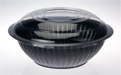 "Bowl 11"" Salad Clear Lid Each"