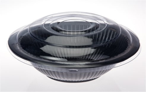 "Bowl 12"" Salad Clear Lid Each"