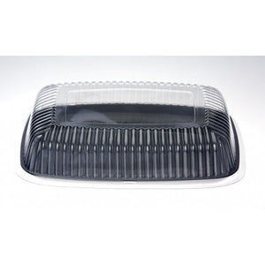 "Platter Plastic 12"" Rectangle Black Each"