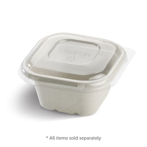 Bio Cane Takeaway Base 480ml 130x130x65 White (Carton 600) (Sleeve 50)