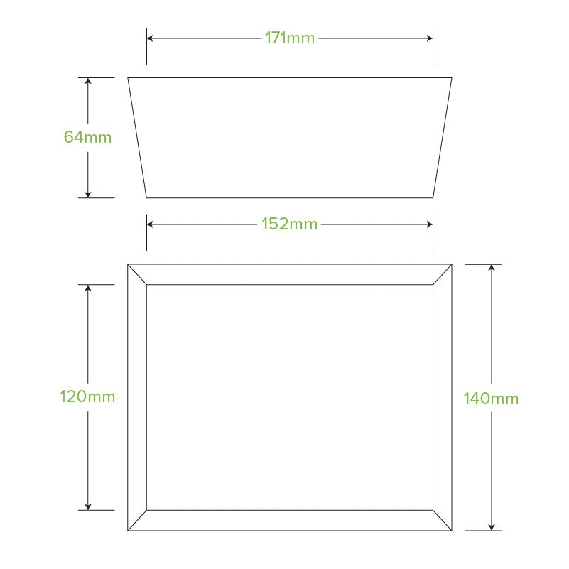 Bio Box Lunch Medium 152x120x64mm (Carton 200)