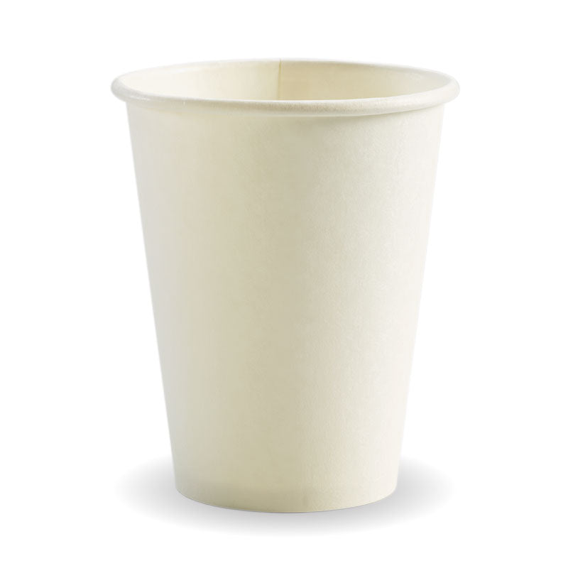 Bio Cup 12oz/354ml Single Wall Plastic White (Carton 1000) (Sleeve 50)